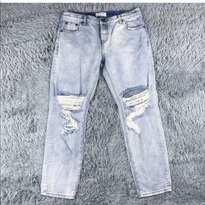 One By One Teaspoon Awesome Baggies Ripped Jean 30